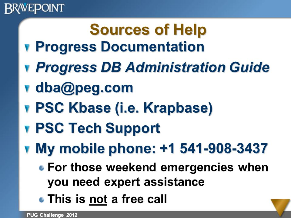 Sources of Help Progress Documentation