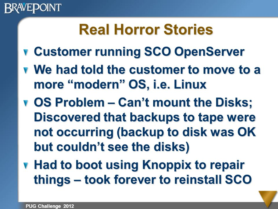 Real Horror Stories Customer running SCO OpenServer