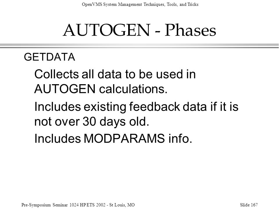 AUTOGEN - Phases Collects all data to be used in AUTOGEN calculations.