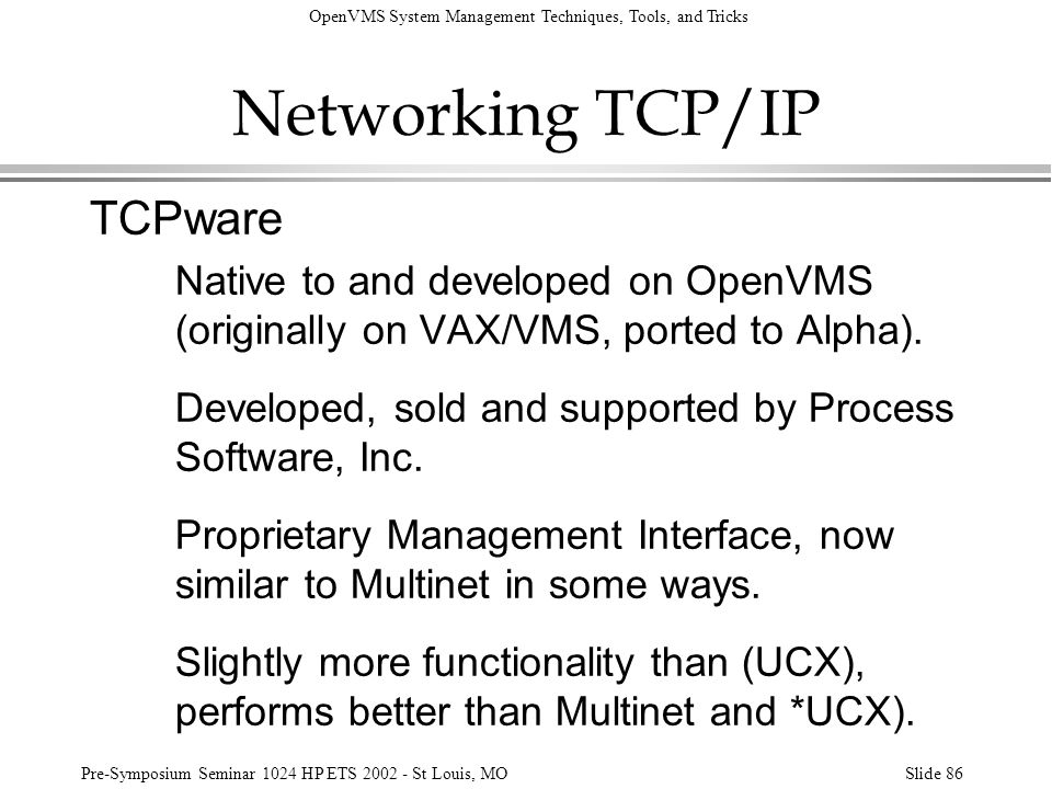 Networking TCP/IP TCPware