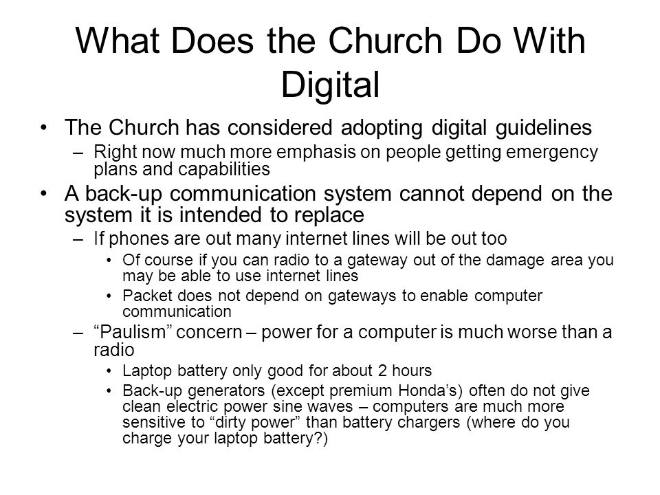 What Does the Church Do With Digital