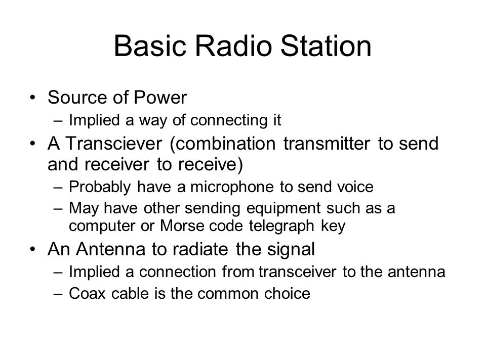 Basic Radio Station Source of Power