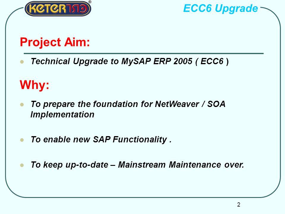 Project Aim: Why: ECC6 Upgrade