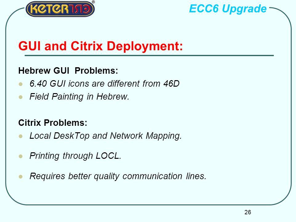GUI and Citrix Deployment:
