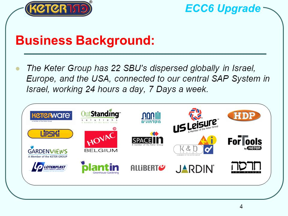 Business Background: ECC6 Upgrade