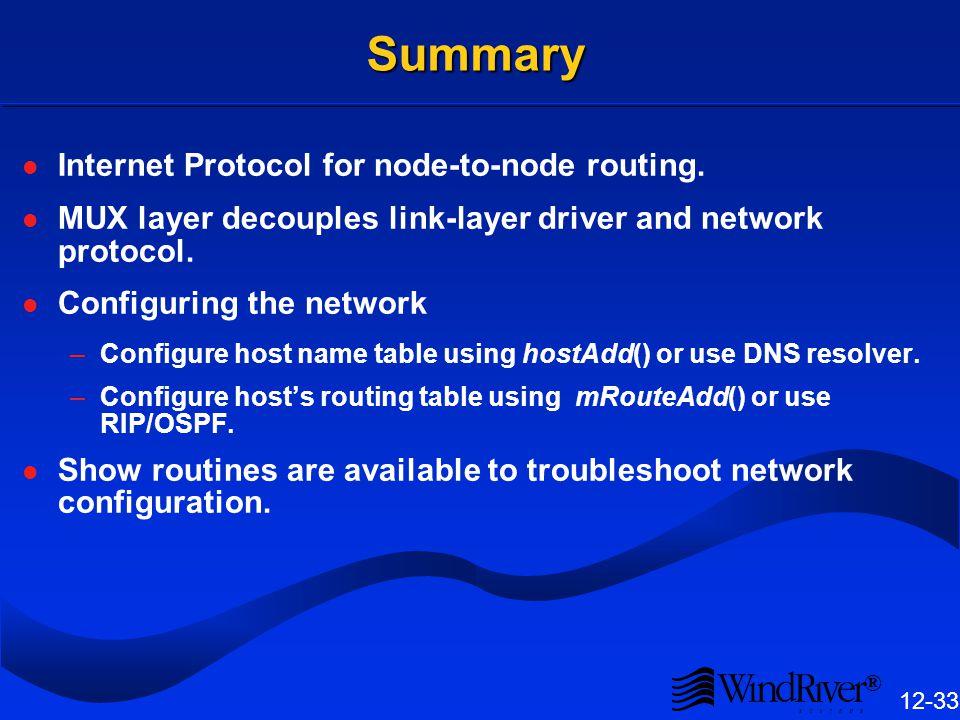 netDrv vs. nfsDrv Advantages of nfsDrv over netDrv: