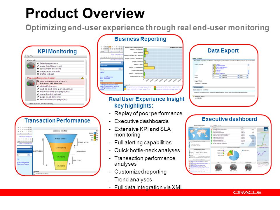 Product Overview Optimizing end-user experience through real end-user monitoring