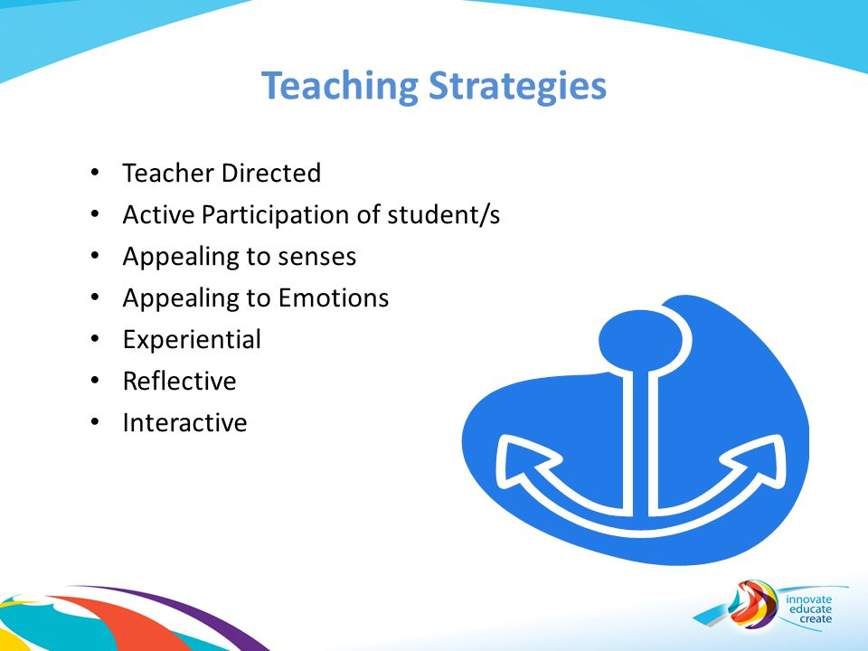 Teaching Strategies Teacher Directed Active Participation of student/s
