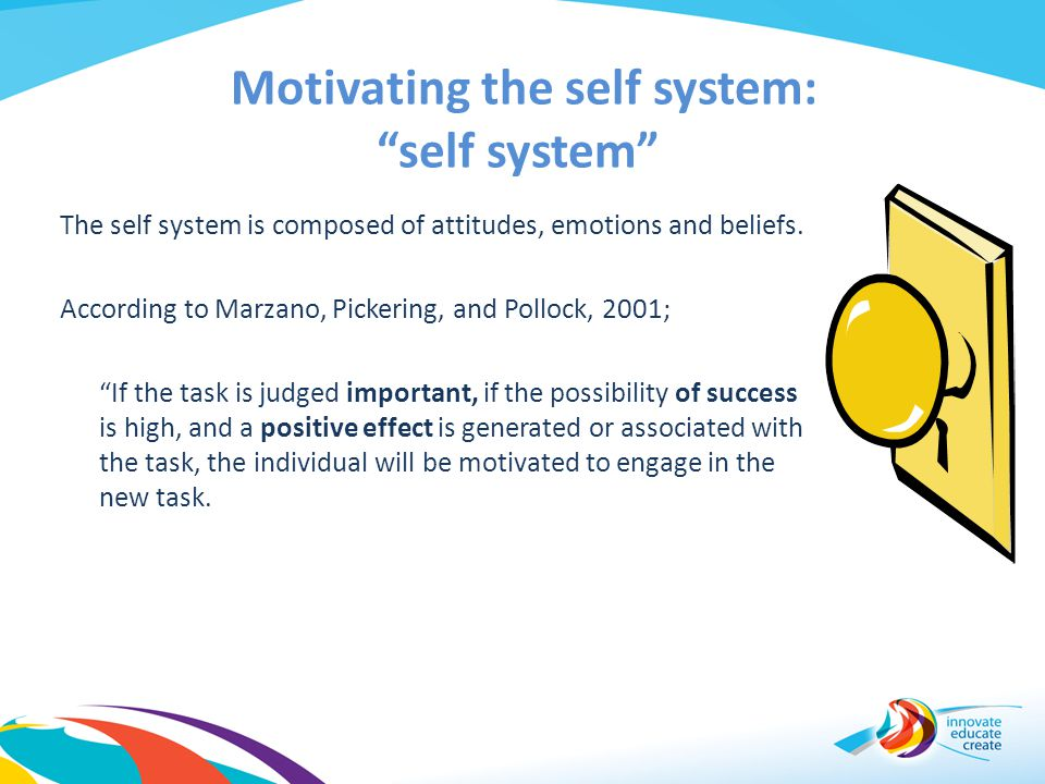 Motivating the self system: self system