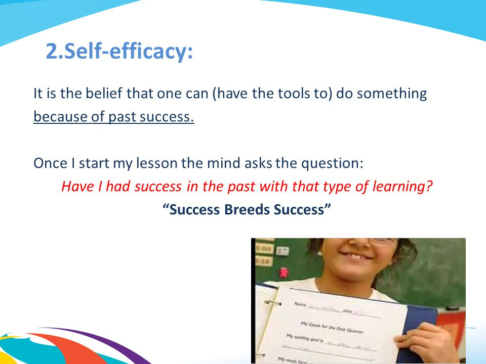 Self-efficacy: