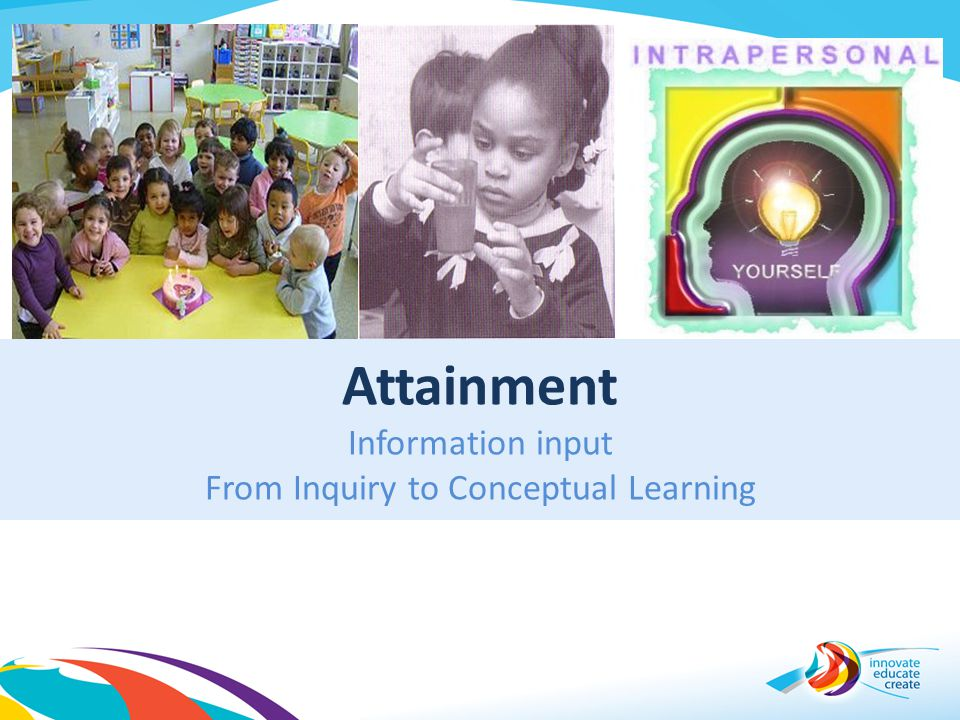 Attainment Information input From Inquiry to Conceptual Learning