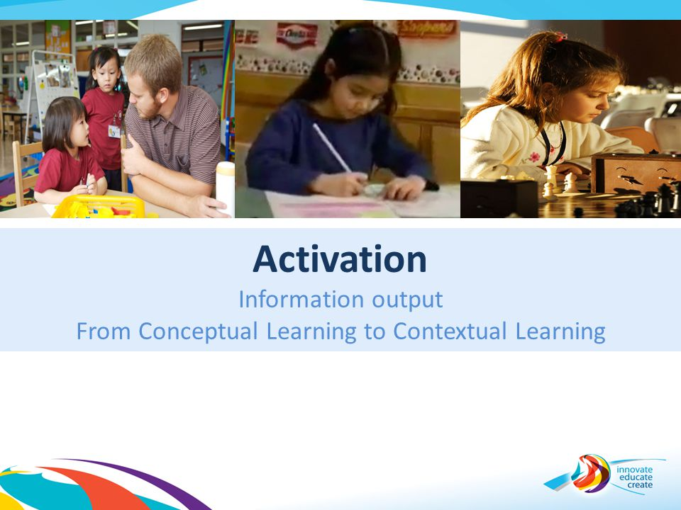 Activation Information output From Conceptual Learning to Contextual Learning