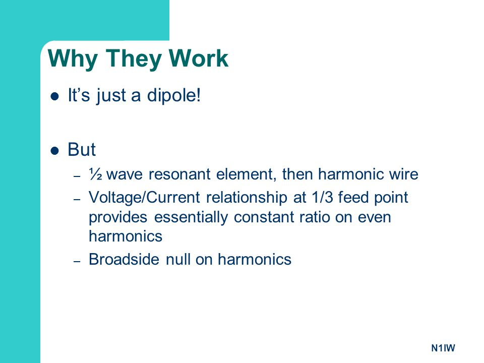 Why They Work It's just a dipole! But