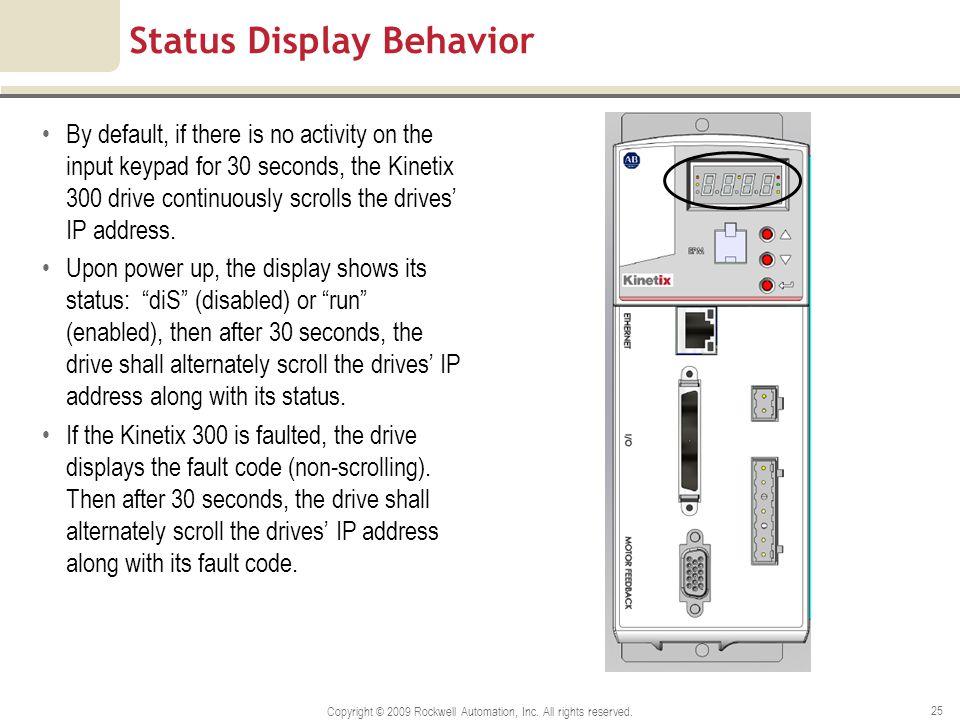 Status Display Behavior