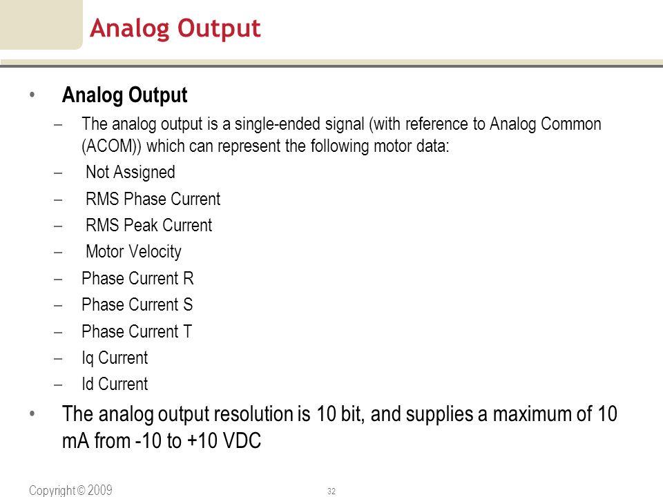 Analog Output Analog Output