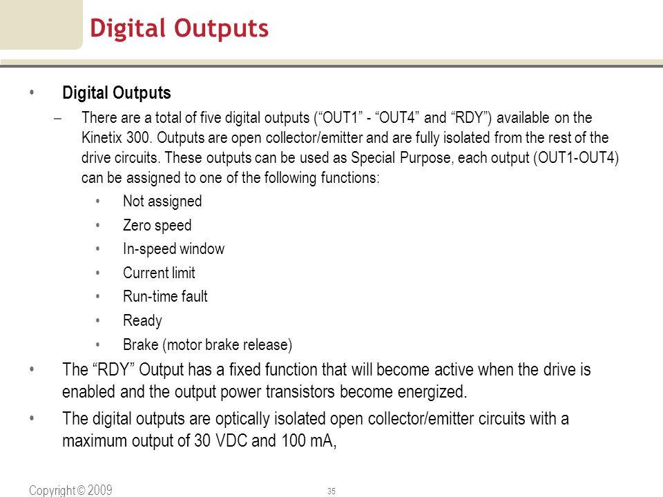 Digital Outputs Digital Outputs