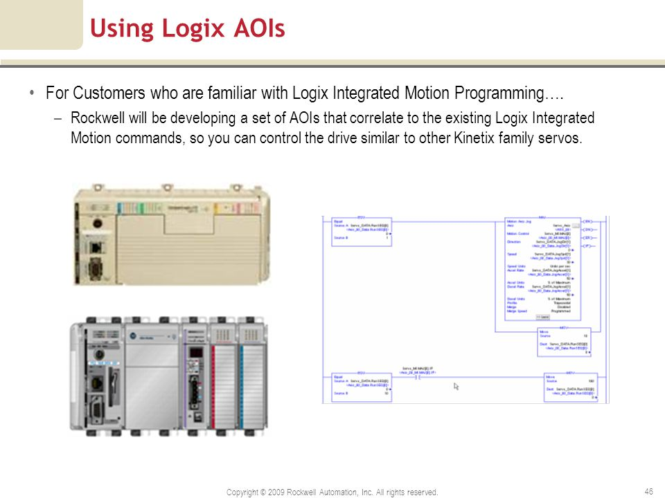 Copyright © 2009 Rockwell Automation, Inc. All rights reserved.