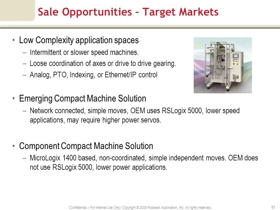 Sale Opportunities – Target Markets