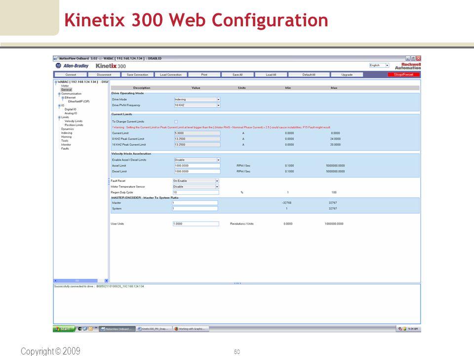Kinetix 300 Web Configuration
