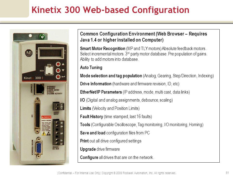 Kinetix 300 Web-based Configuration