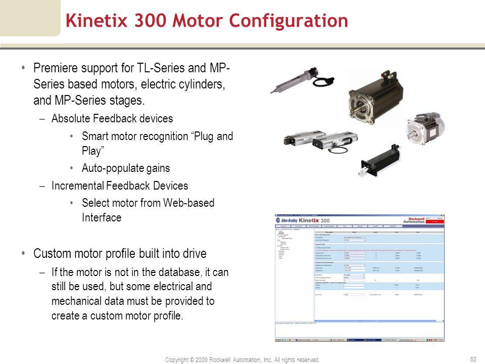 Kinetix 300 Motor Configuration