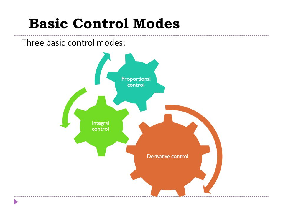 Basic Control Modes Chapter 8 Chapter 8 Three basic control modes:
