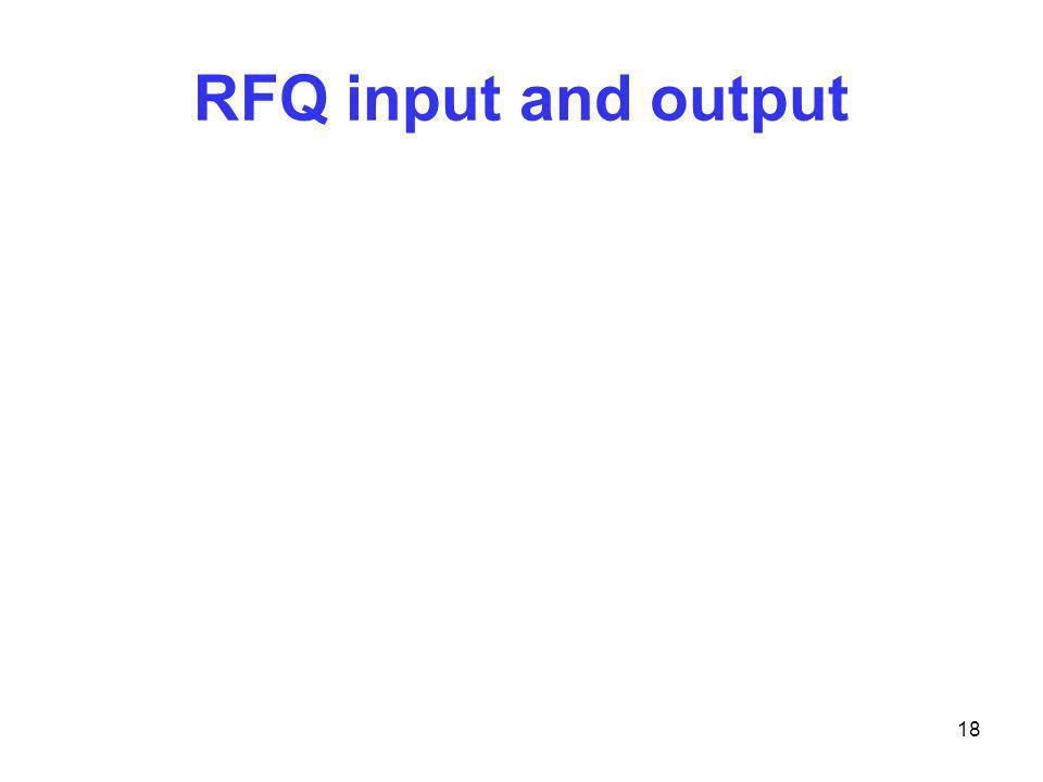 RFQ input and output