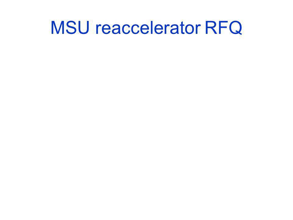 MSU reaccelerator RFQ