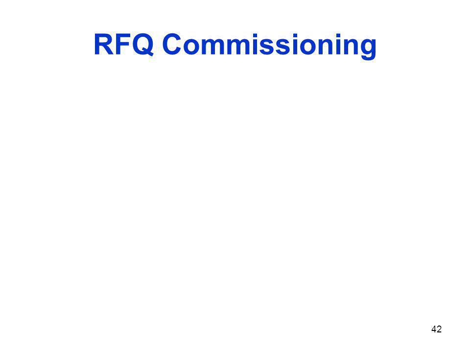 RFQ Commissioning