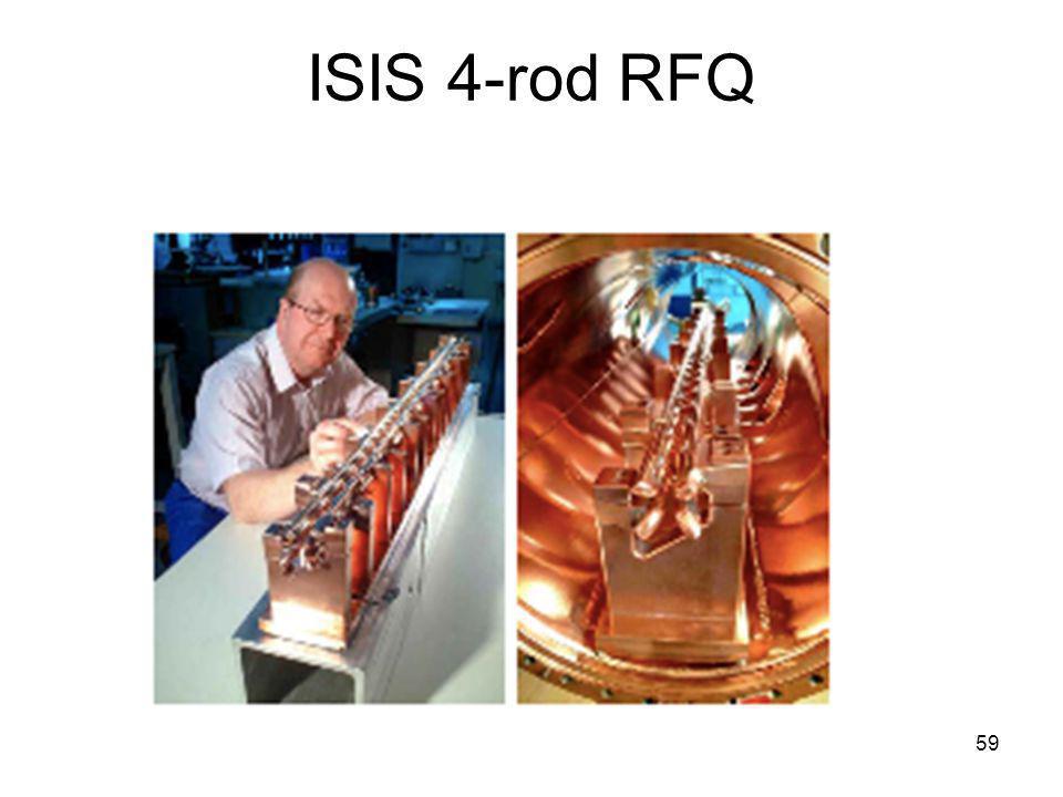 ISIS 4-rod RFQ
