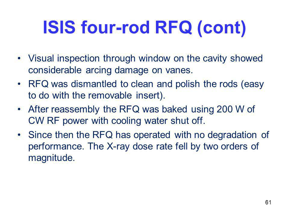 ISIS four-rod RFQ (cont)