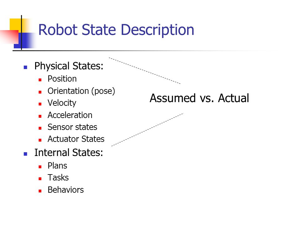 Robot State Description