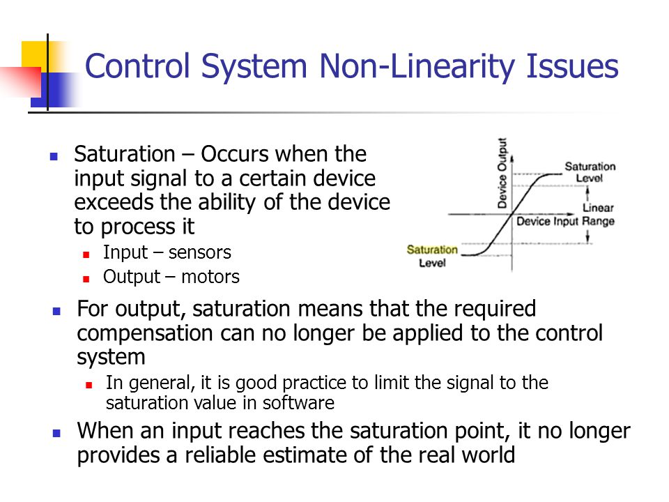 Control System Non-Linearity Issues