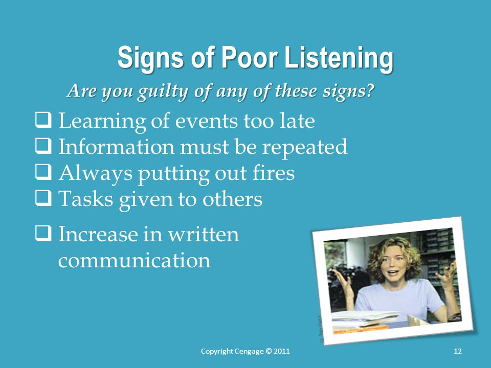 Signs of Poor Listening