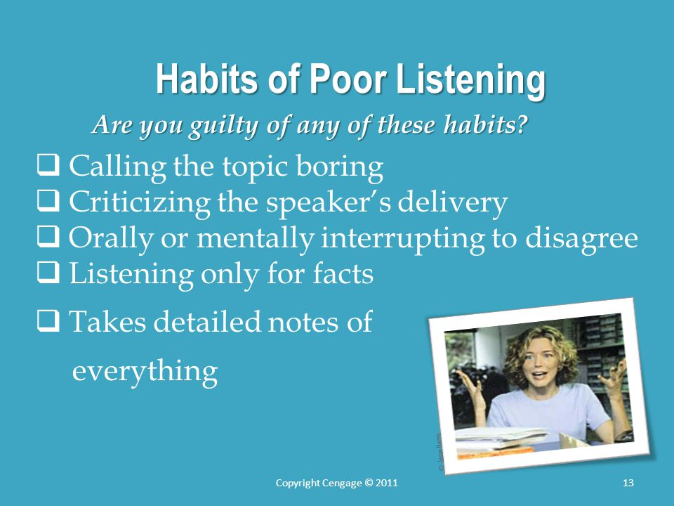 Habits of Poor Listening