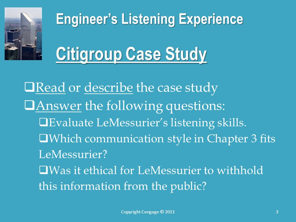 Engineer's Listening Experience