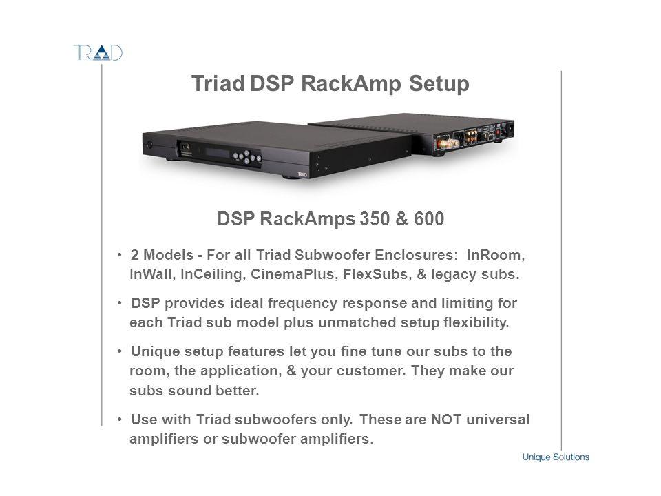 Triad DSP RackAmp Setup