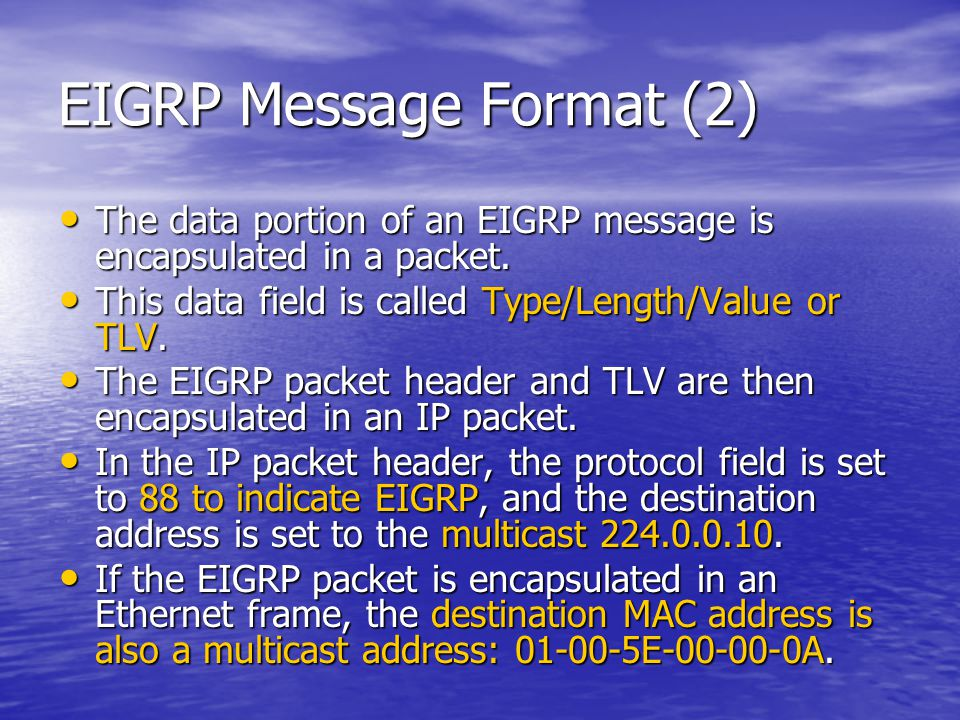 EIGRP Message Format (2)