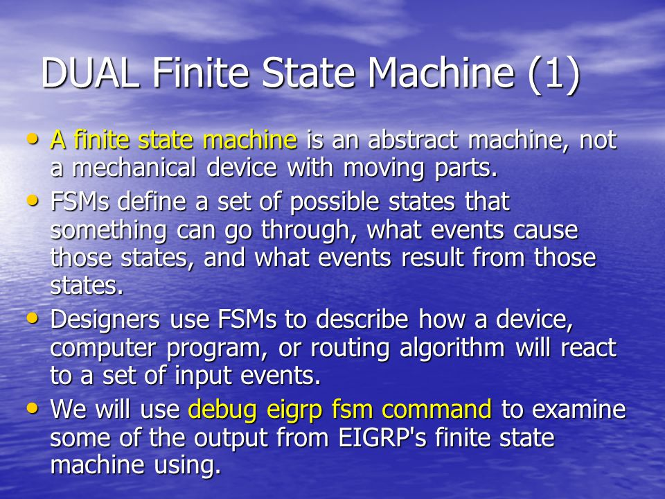 DUAL Finite State Machine (1)