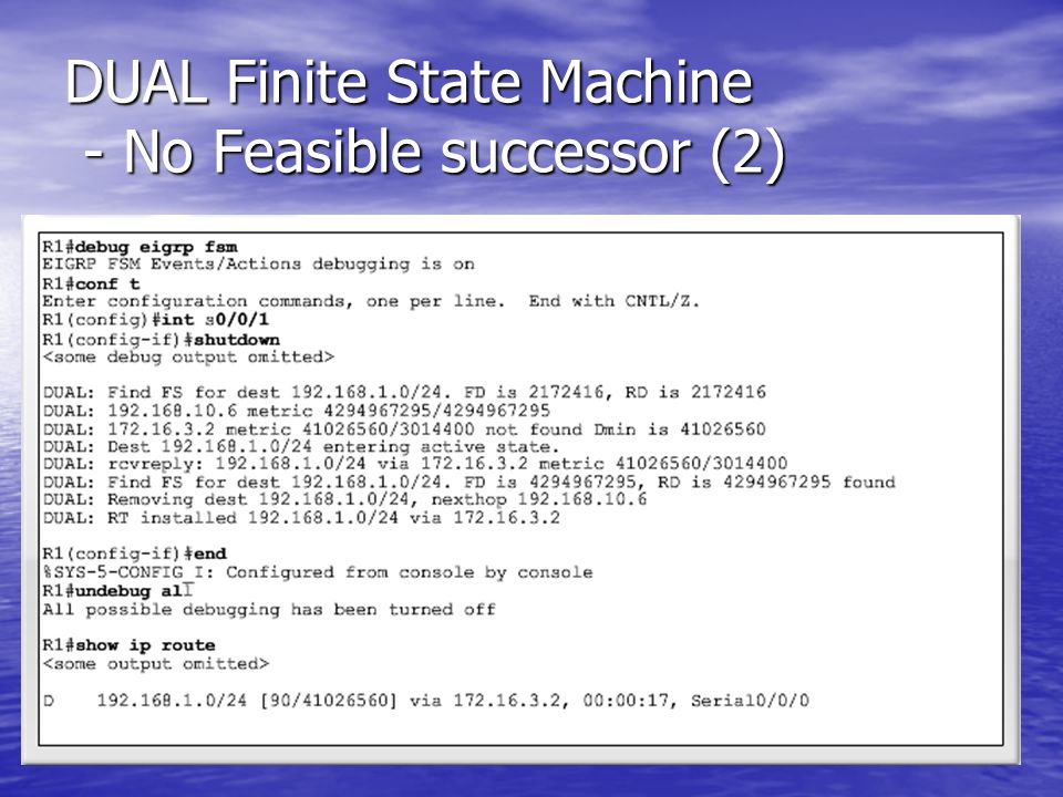 DUAL Finite State Machine - No Feasible successor (2)