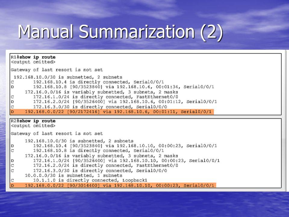 Manual Summarization (2)