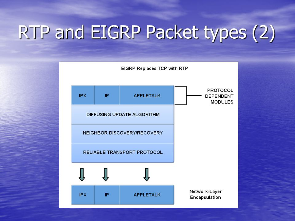 RTP and EIGRP Packet types (2)