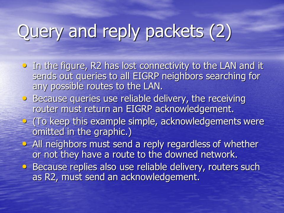 Query and reply packets (2)