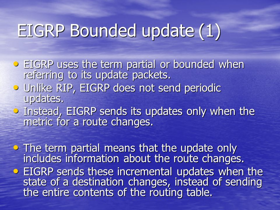 EIGRP Bounded update (1)
