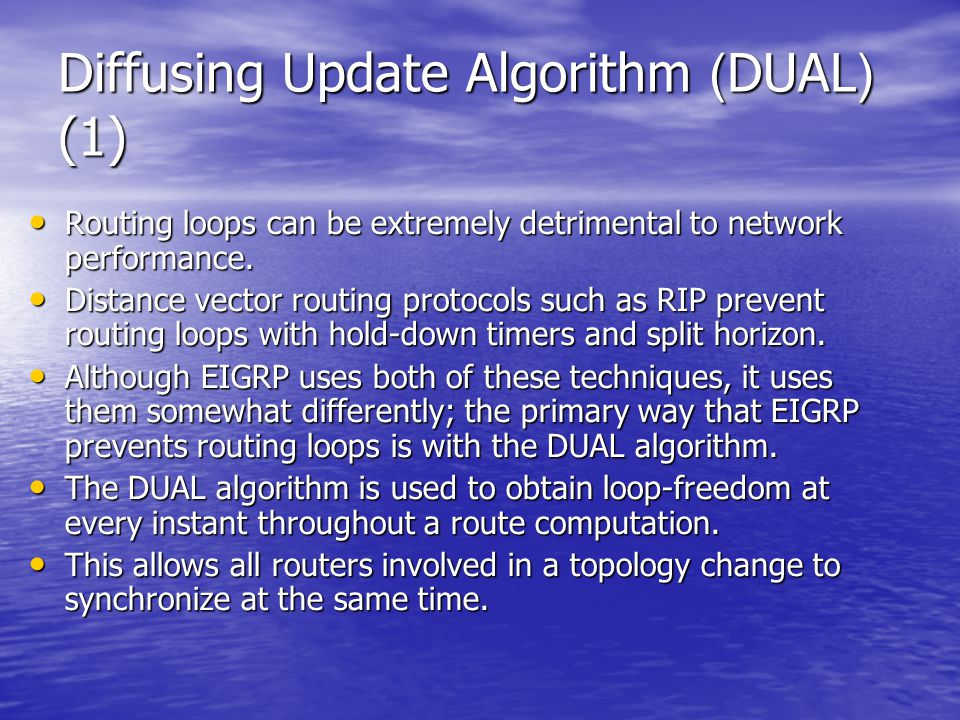 Diffusing Update Algorithm (DUAL) (1)