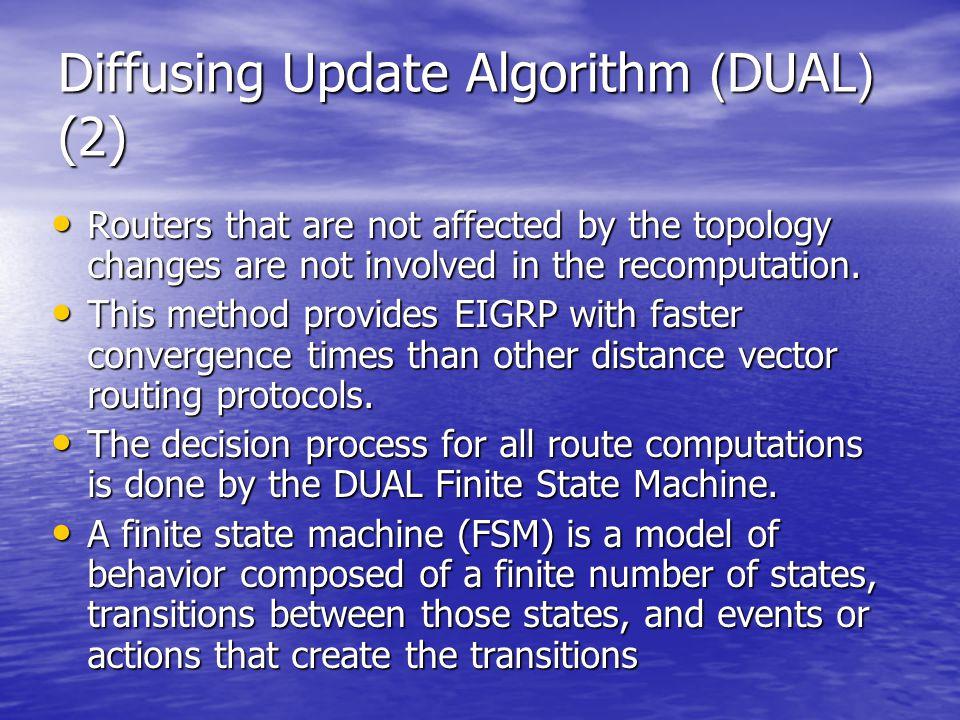 Diffusing Update Algorithm (DUAL) (2)