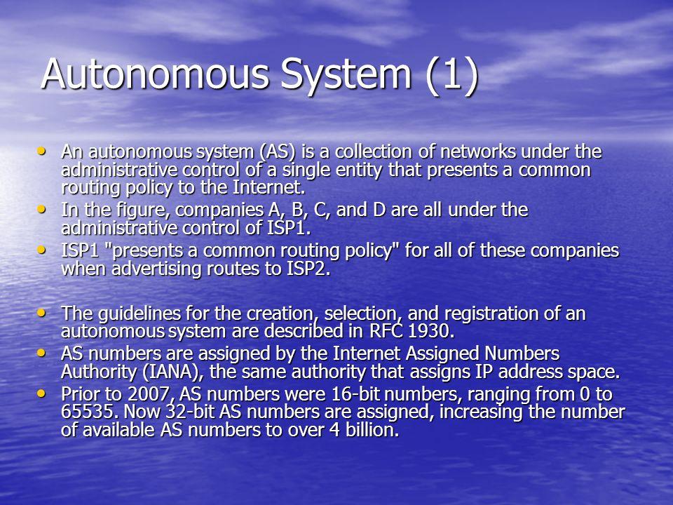 Autonomous System (1)