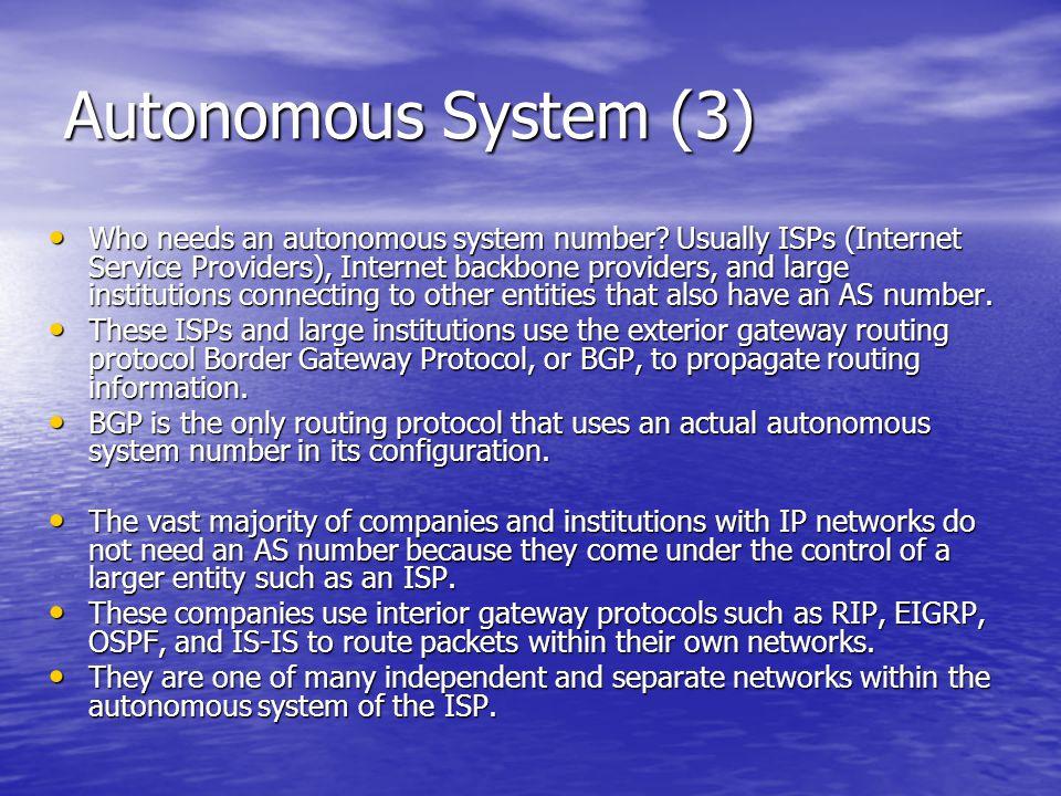 Autonomous System (3)