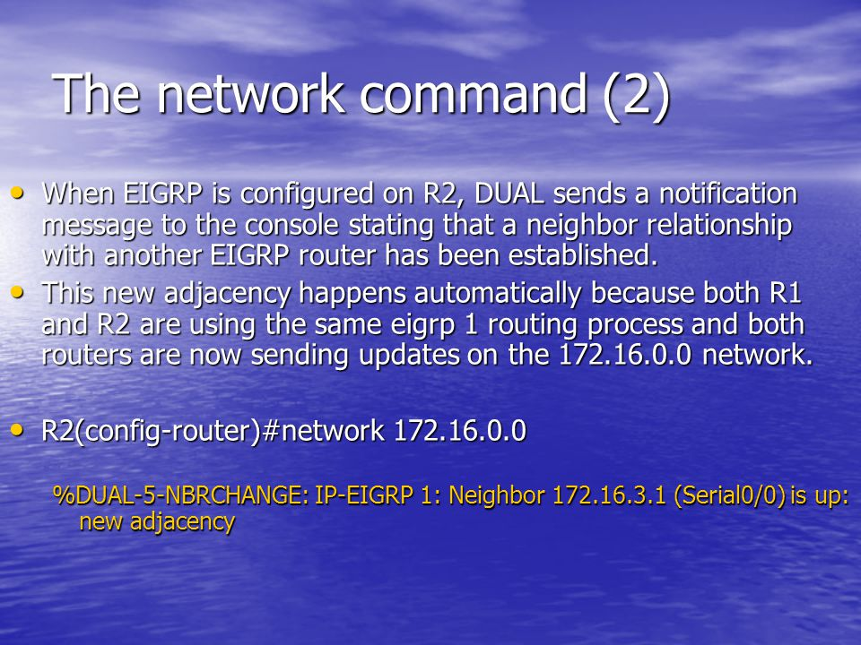 The network command (2)