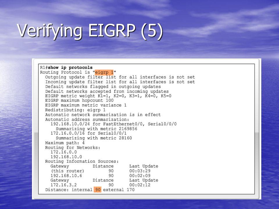 Verifying EIGRP (5)